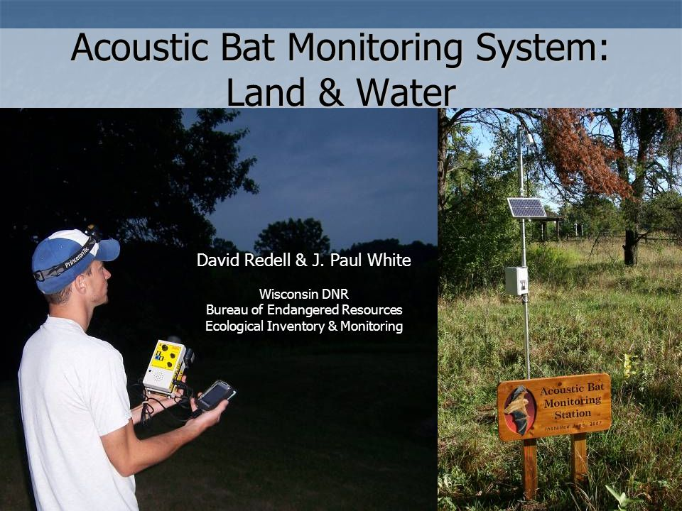 Acoustic Bat Monitoring System: Land & Water David Redell & J.