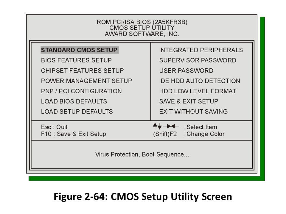 Figure 2-64: CMOS Setup Utility Screen