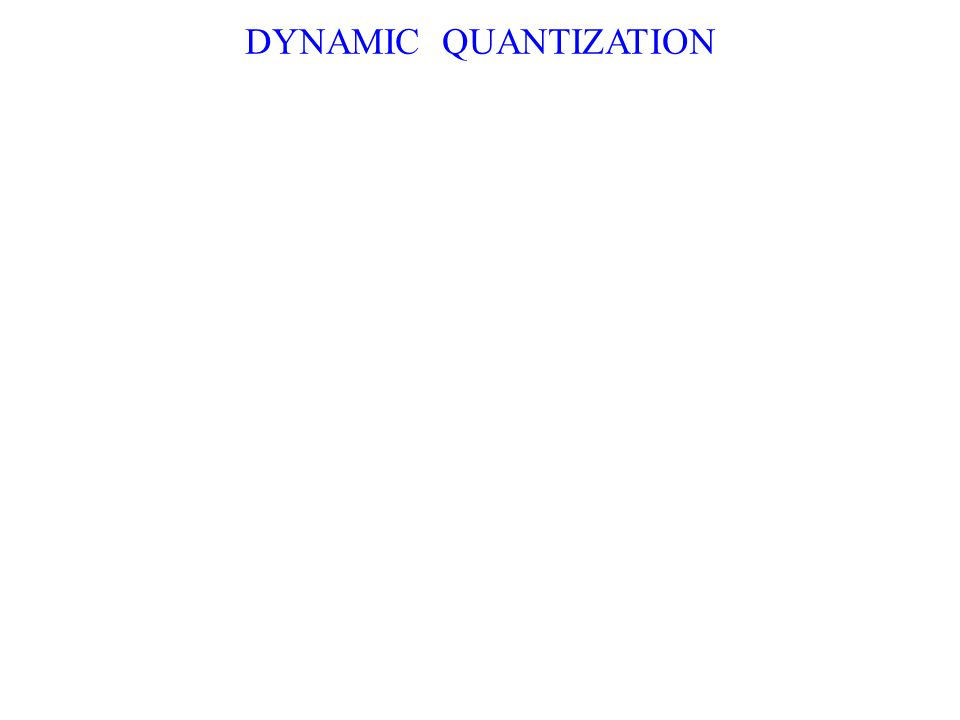 DYNAMIC QUANTIZATION
