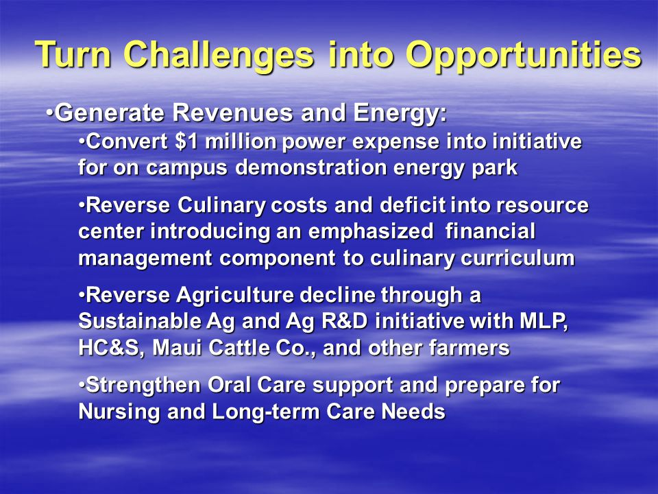 Generate Revenues and Energy:Generate Revenues and Energy: Convert $1 million power expense into initiative for on campus demonstration energy parkCon
