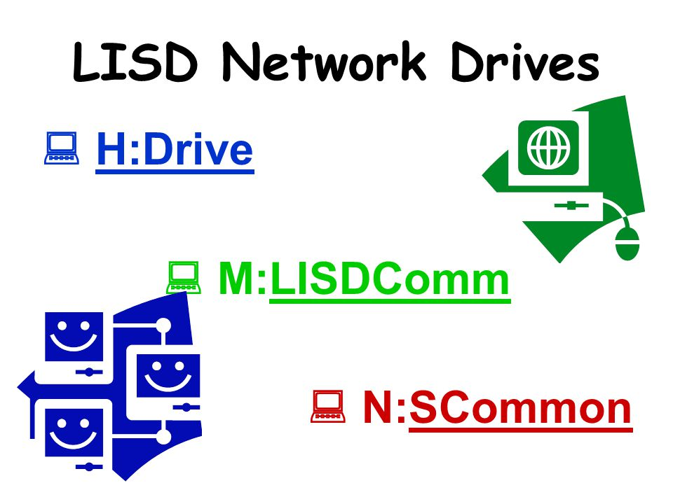 H:Drive A private place to store your documents with 1Gb.