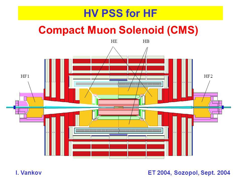 Compact Muon Solenoid (CMS) HV PSS for HF HEHB HF2HF1 I. Vankov ET 2004, Sozopol, Sept. 2004