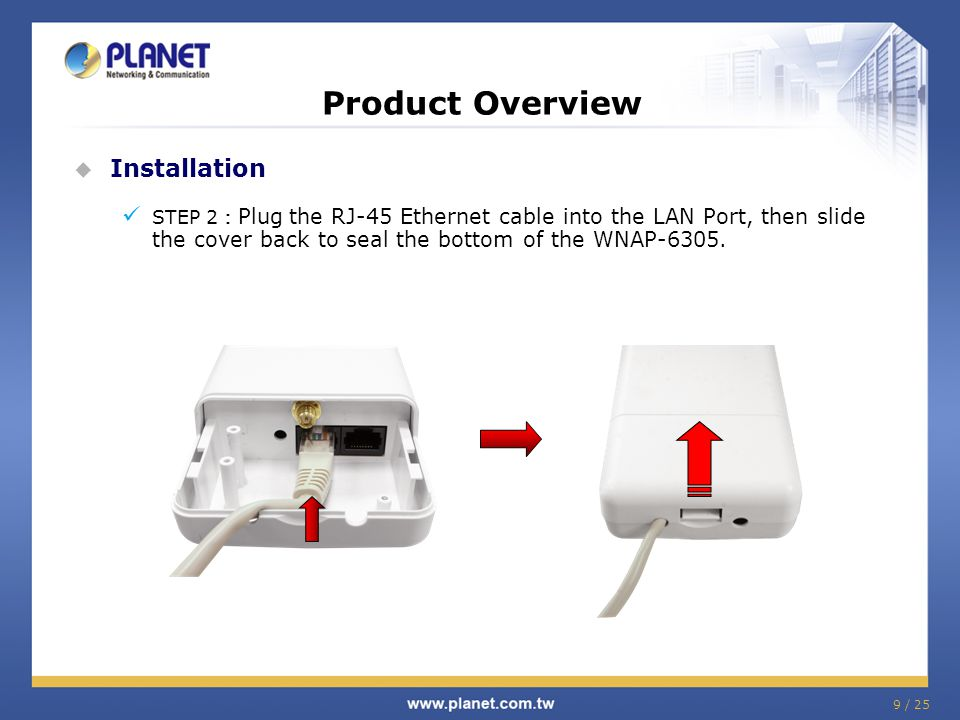10 / 25 Product Overview Installation Diagram Strongly suggest using STP cable (part no.