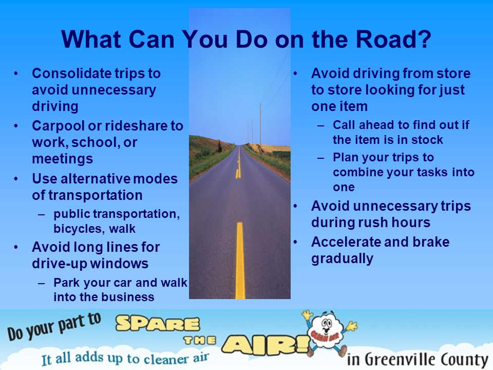 What Can You Do on the Road.