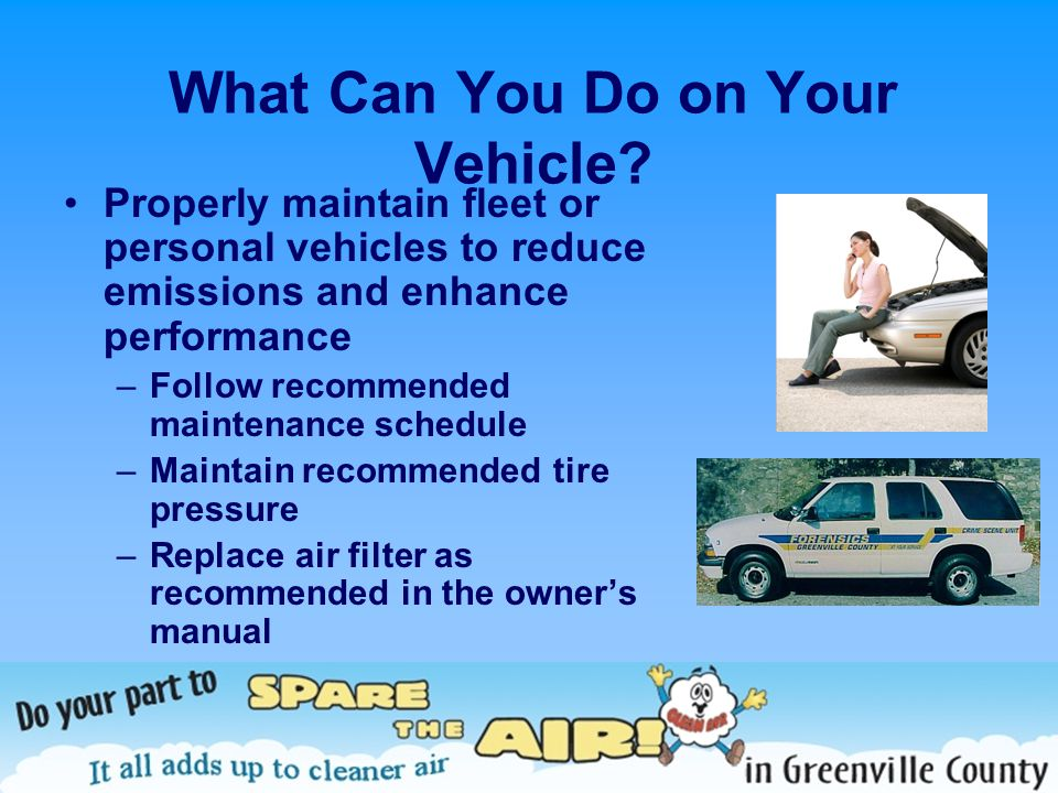 What Can You Do on Your Vehicle.