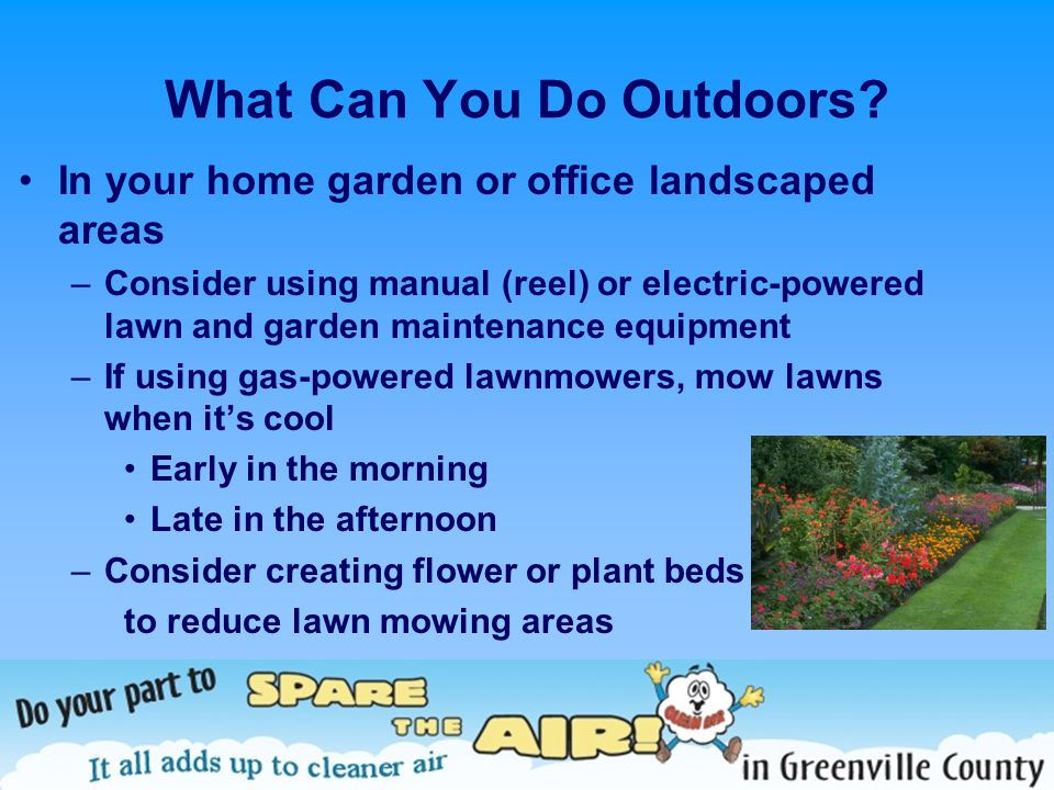 What Can You Do Outdoors.