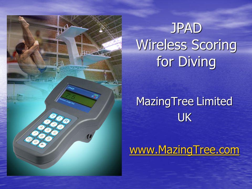 JPAD Wireless Scoring for Diving MazingTree Limited UK www.MazingTree.com