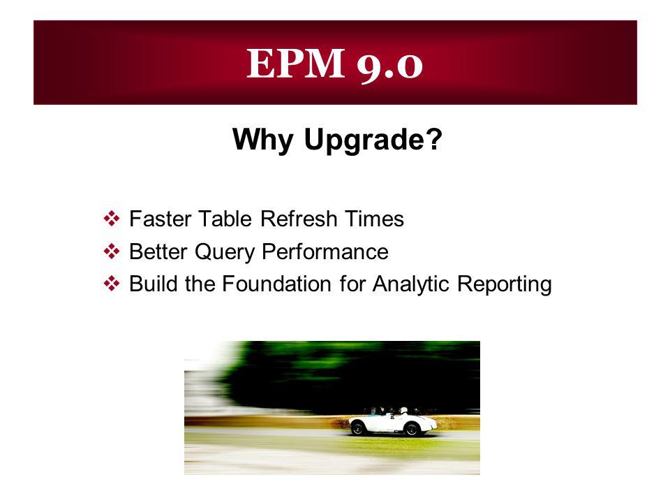 EPM 9.0 Why Upgrade.