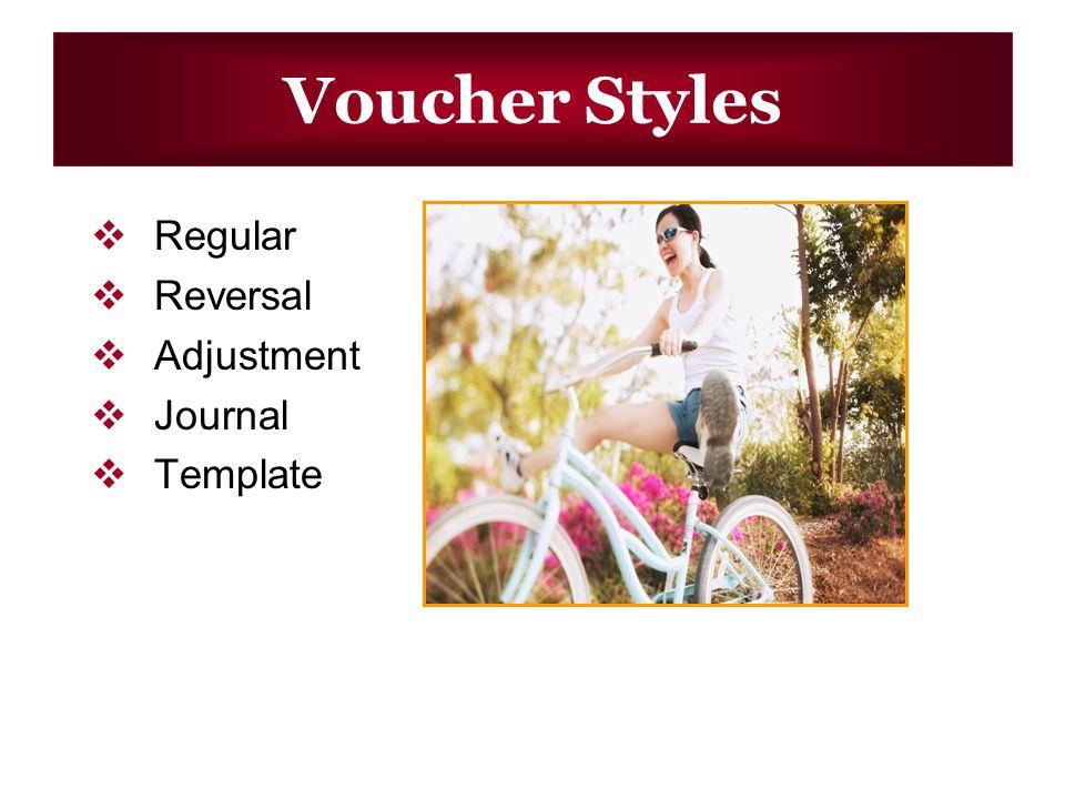 Voucher Styles Regular Reversal Adjustment Journal Template