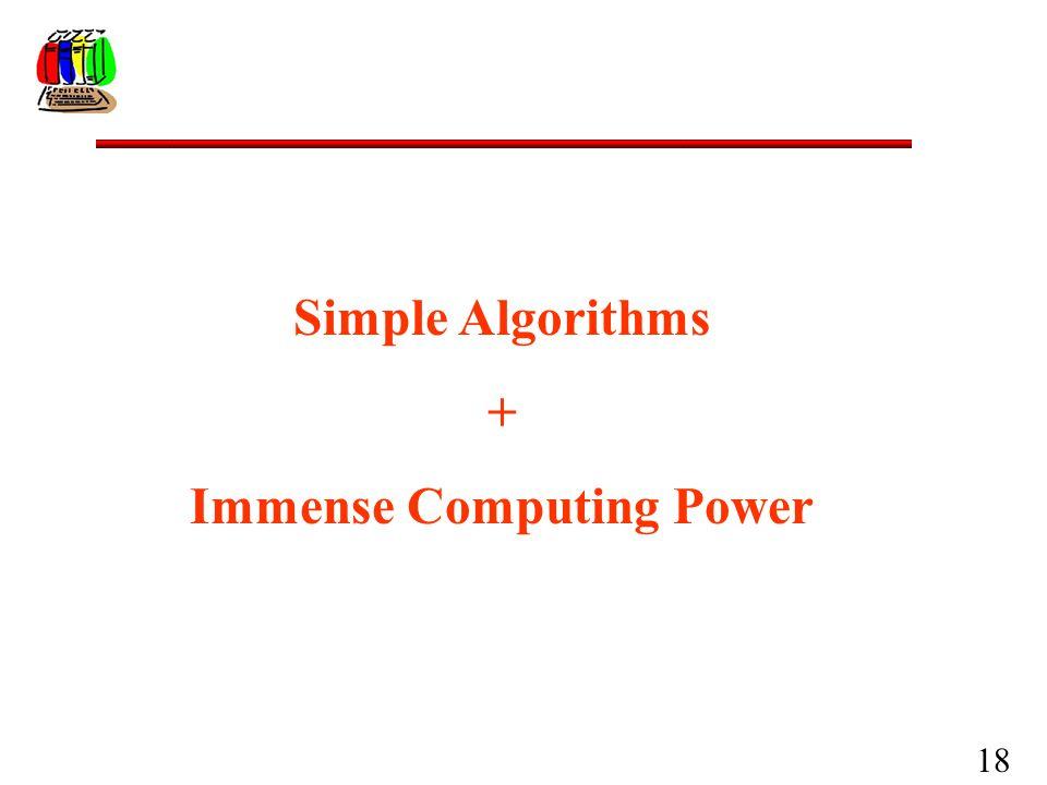 18 Simple Algorithms + Immense Computing Power