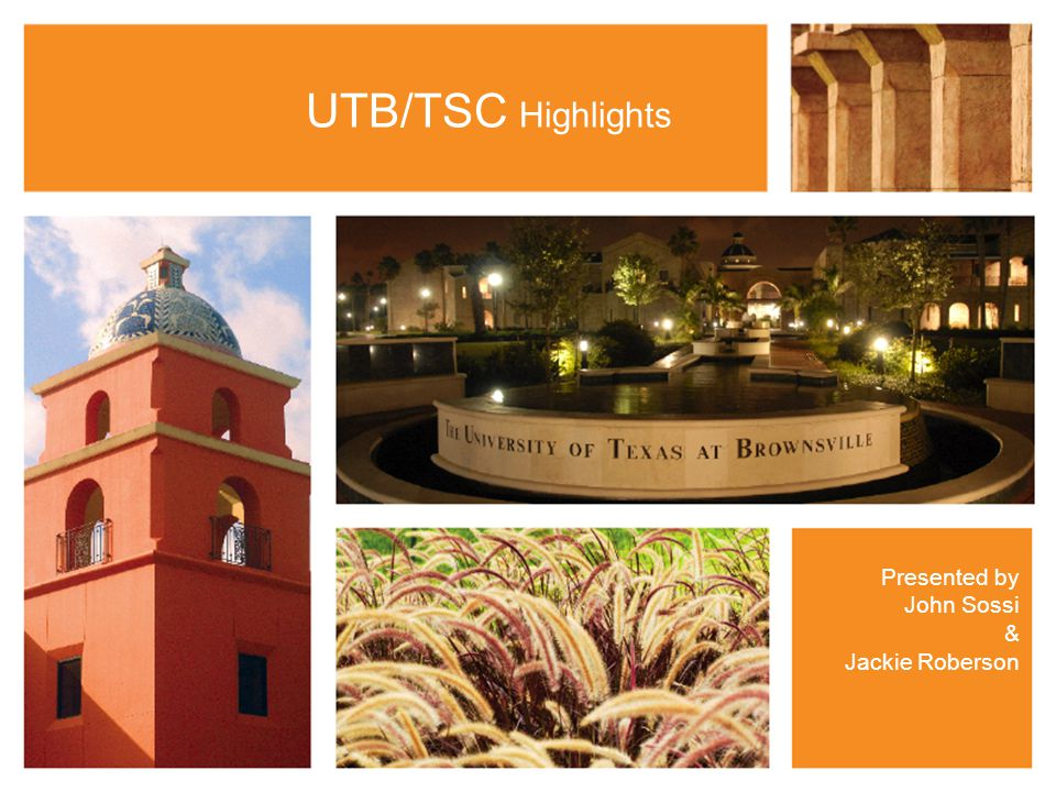 UTB/TSC Highlights Presented by John Sossi & Jackie Roberson