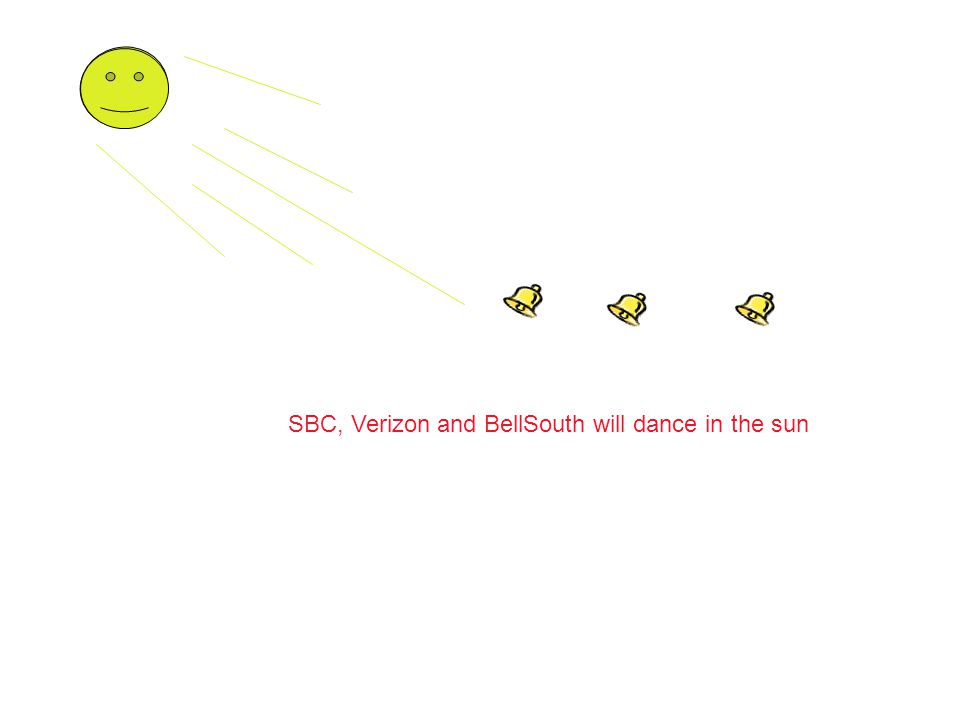 SBC, Verizon and BellSouth will dance in the sun