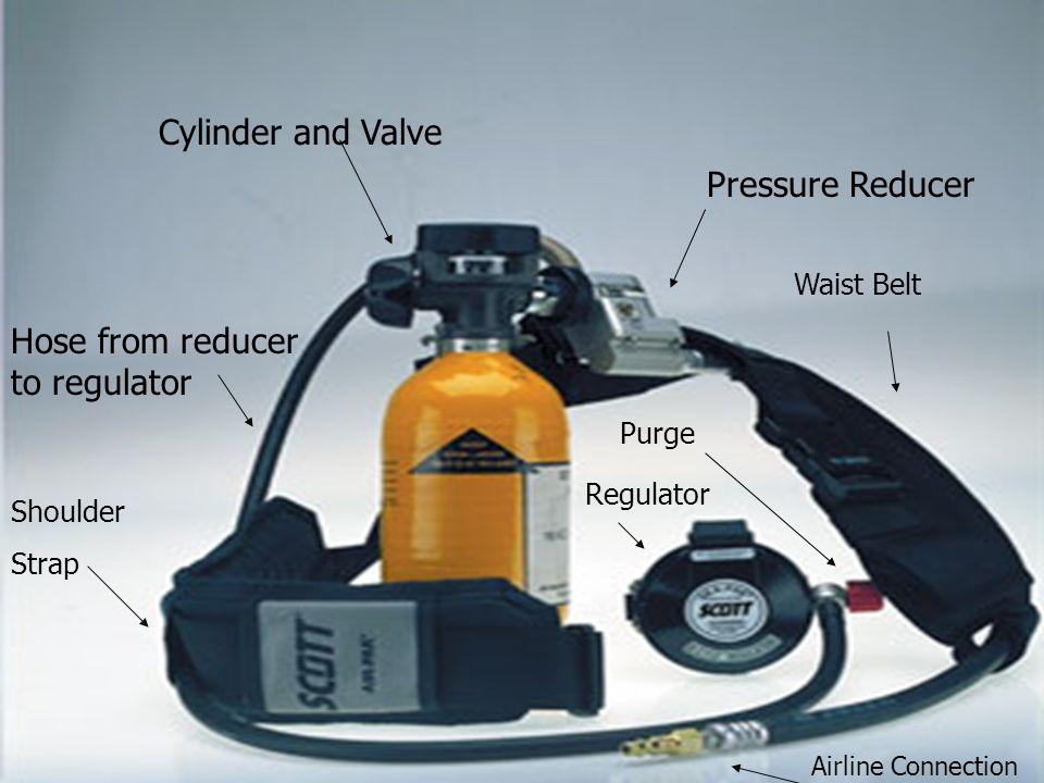 Cylinder and Valve Hose from reducer to regulator Airline Connection Shoulder Strap Pressure Reducer Regulator Purge Waist Belt