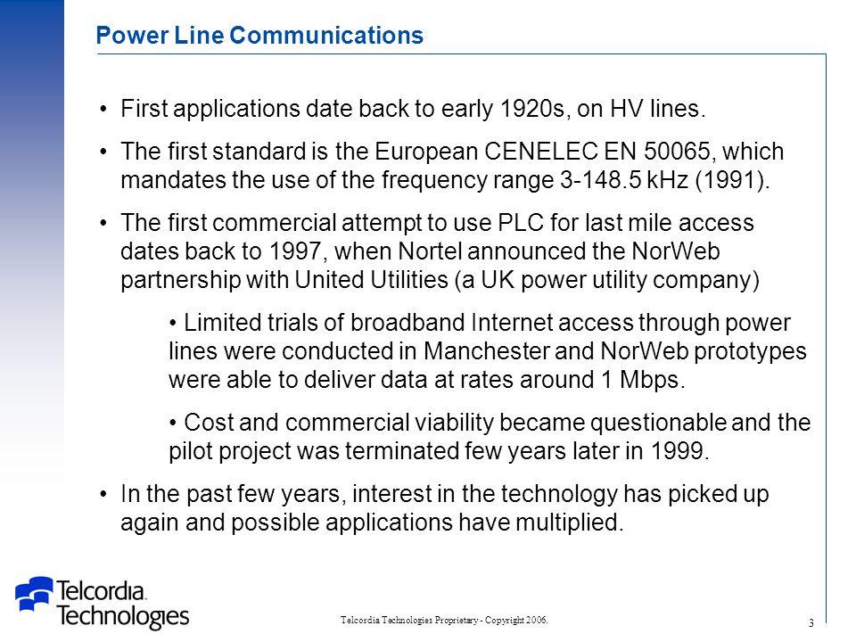 Telcordia Technologies Proprietary - Copyright 2006.