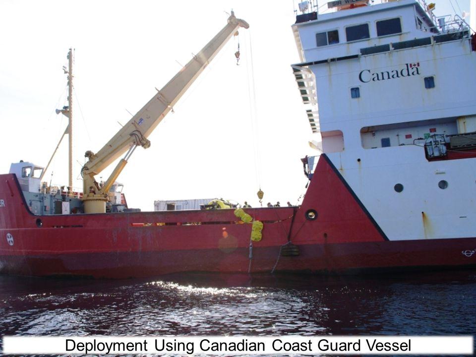 Deployment Using Canadian Coast Guard Vessel