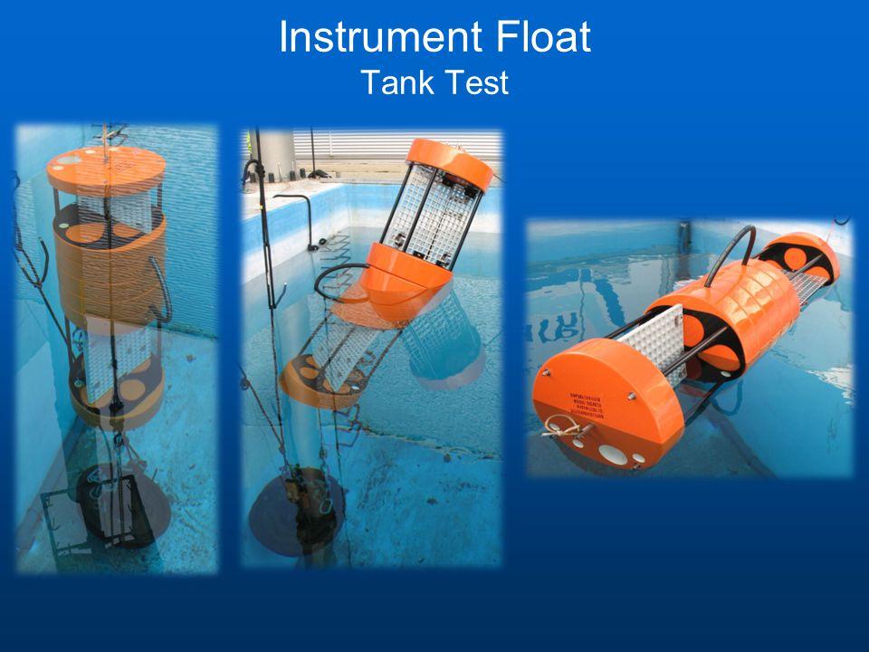 Instrument Float Tank Test