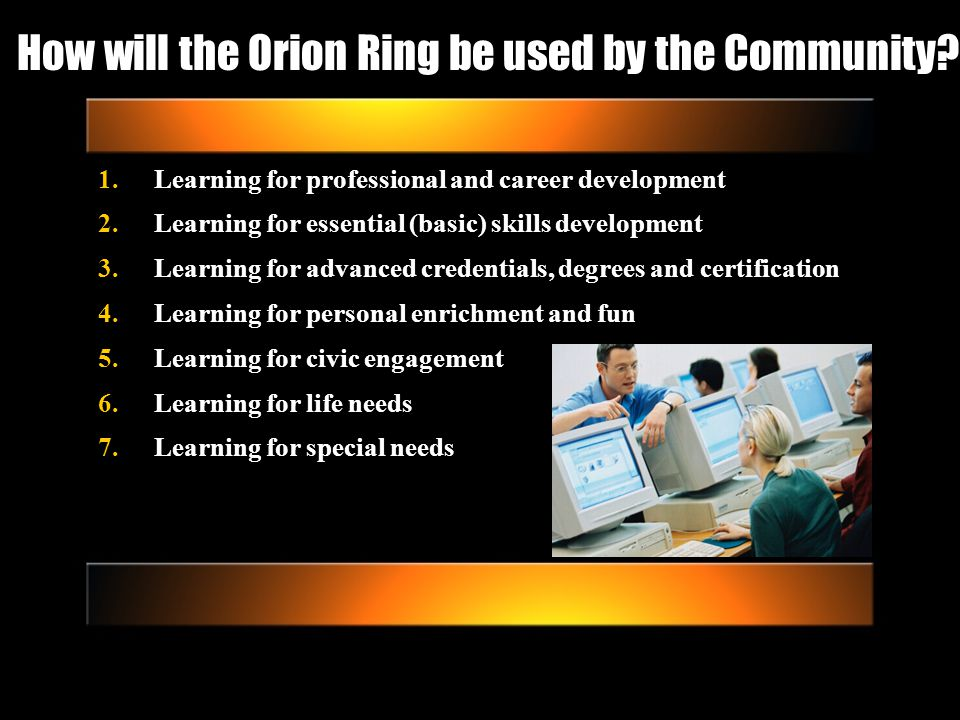 How will the Orion Ring be used by the Community.