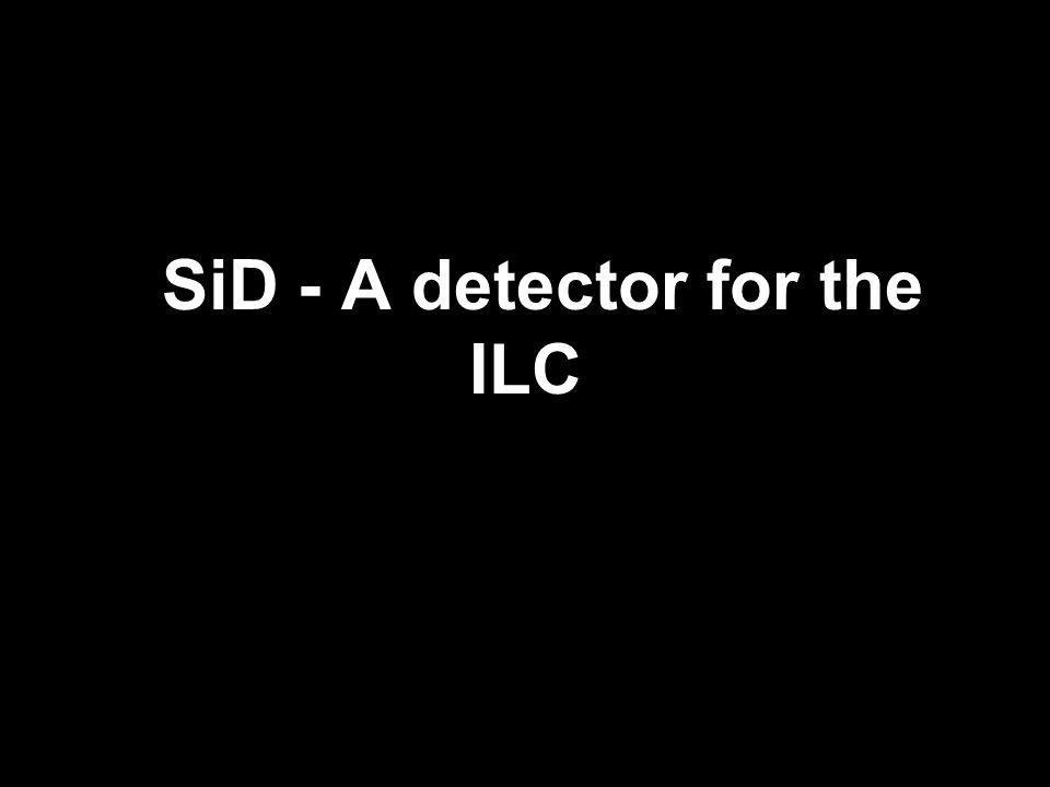 Introducing SiD Co-spokesperson M.Stanitzki DESY Co-spokesperson A.