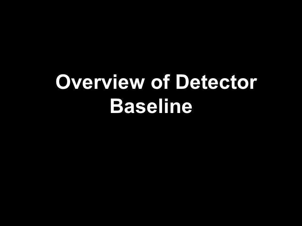 Overview of Detector Baseline
