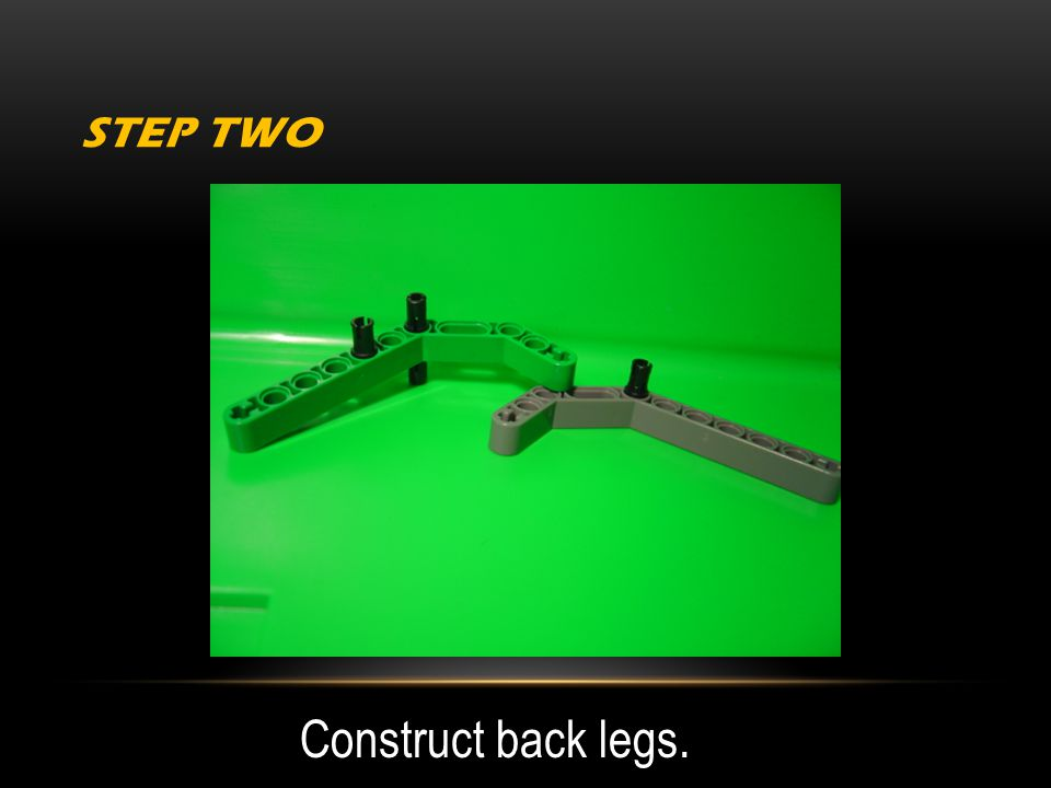 STEP TWO Construct back legs.