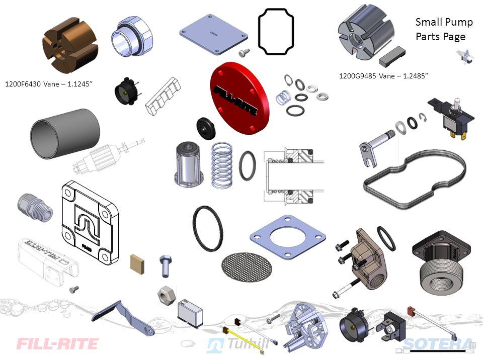 1200F6430 Vane – 1.1245 1200G9485 Vane – 1.2485 Small Pump Parts Page