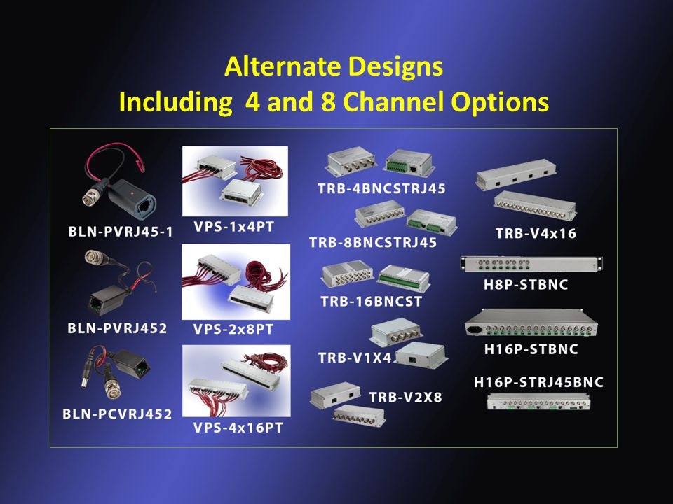Alternate Designs Including 4 and 8 Channel Options