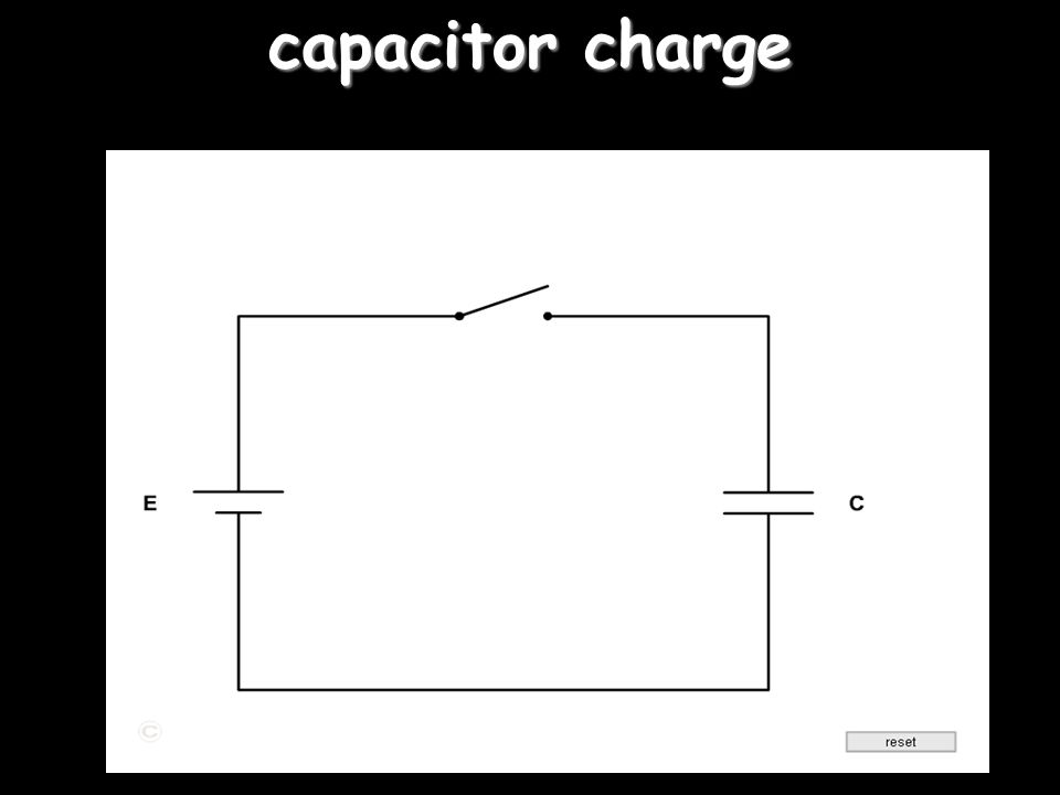 Capacitors A device for storing charge.
