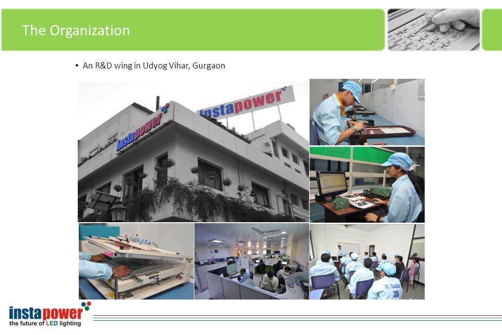 The Organization An R&D wing in Udyog Vihar, Gurgaon