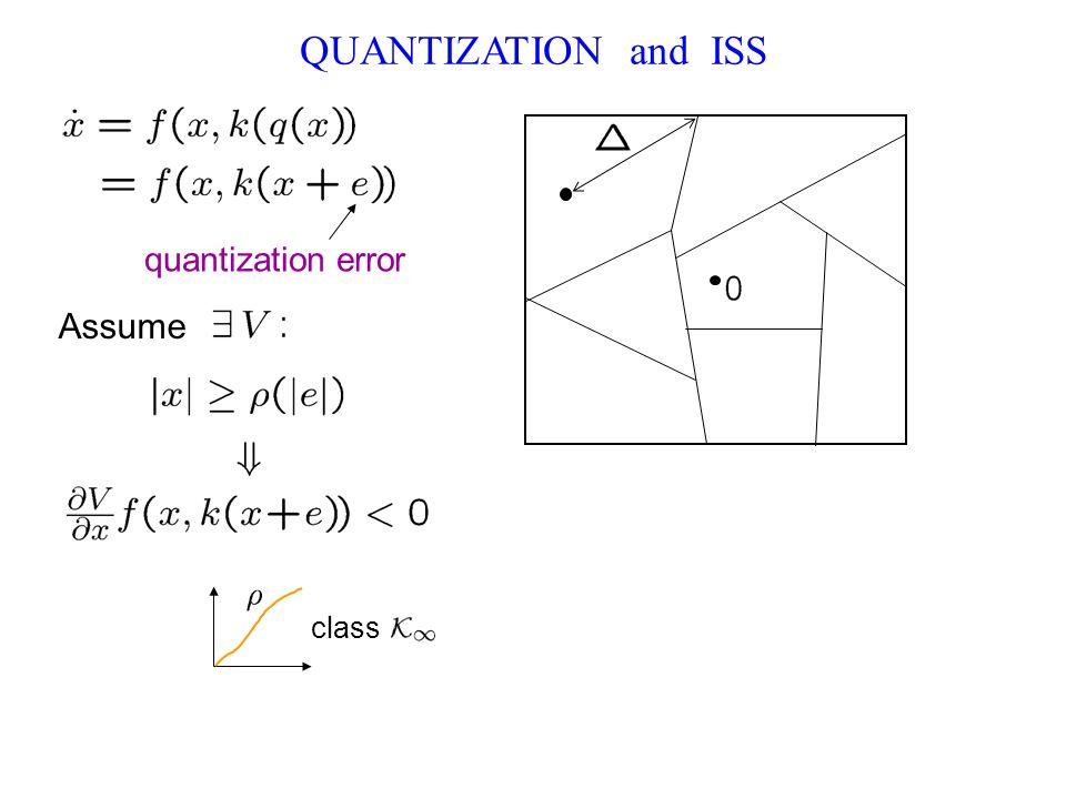 QUANTIZATION and ISS quantization error Assume class