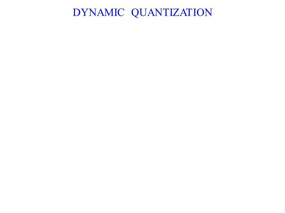 DYNAMIC QUANTIZATION