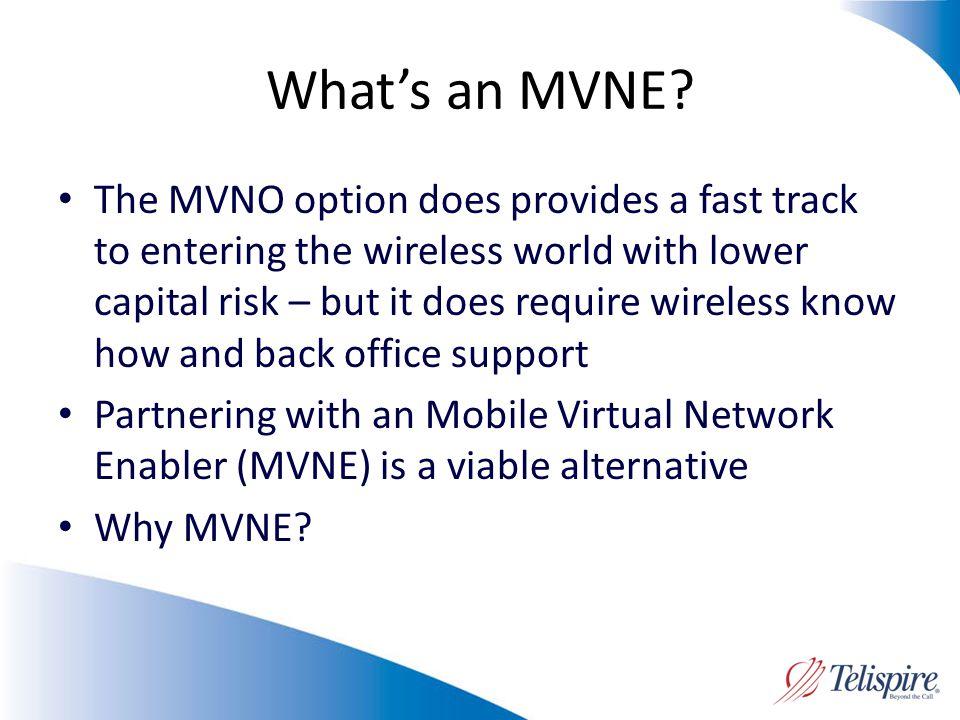 Whats an MVNE.