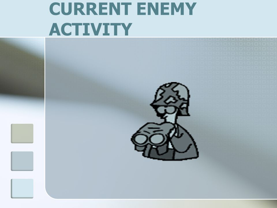 CURRENT ENEMY ACTIVITY