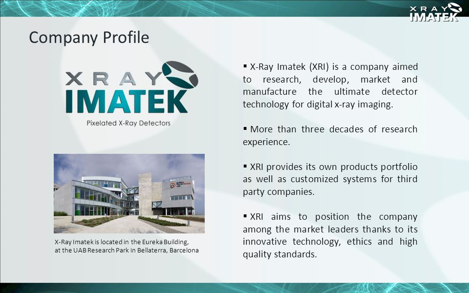 One of the main competitive values of XRI is a multidisciplinary team of highly skilled people.