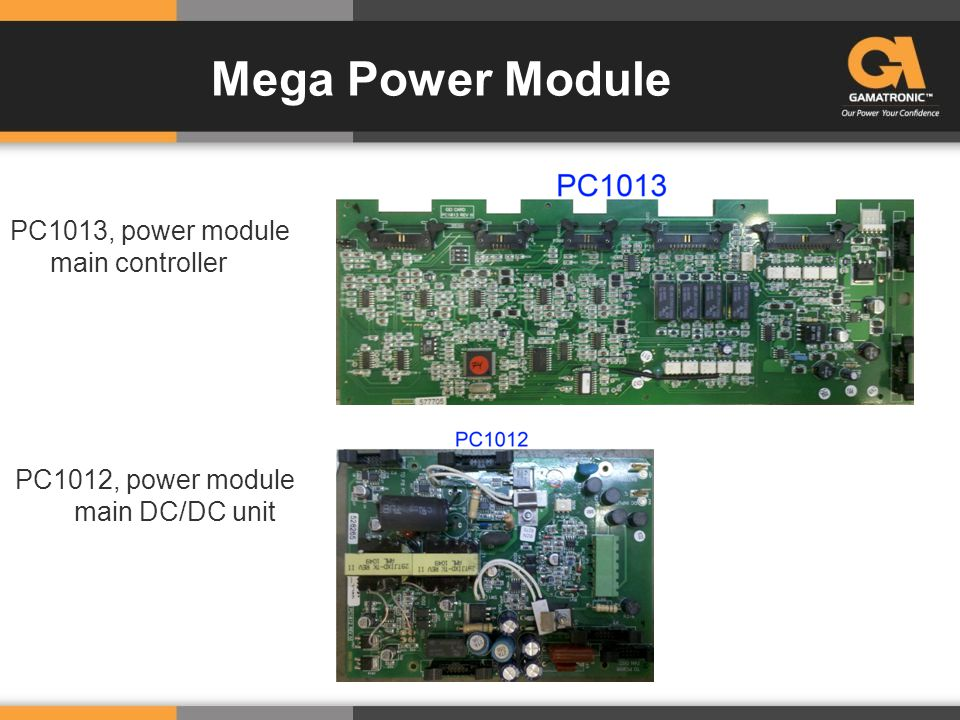 PC1013, power module main controller PC1012, power module main DC/DC unit