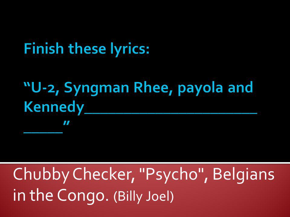 Chubby Checker,