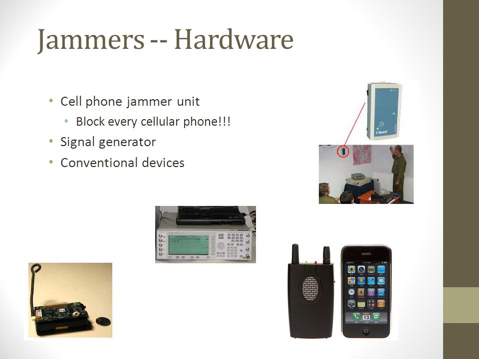 Jammers -- Hardware Cell phone jammer unit Block every cellular phone!!! Signal generator Conventional devices