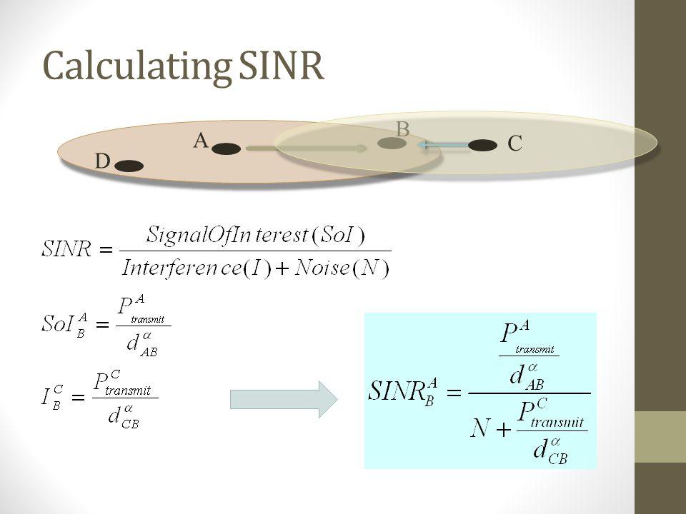 Calculating SINR A B C D