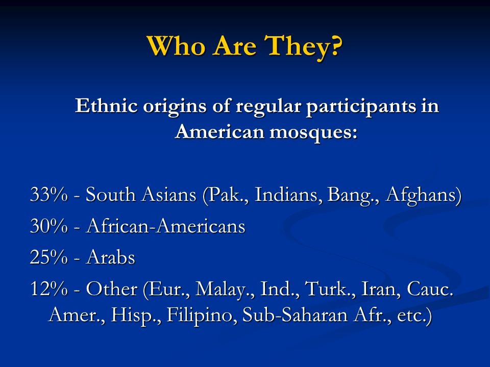 Americas First Muslims 14% to 20% of slaves coming from Africa to America were Muslims.