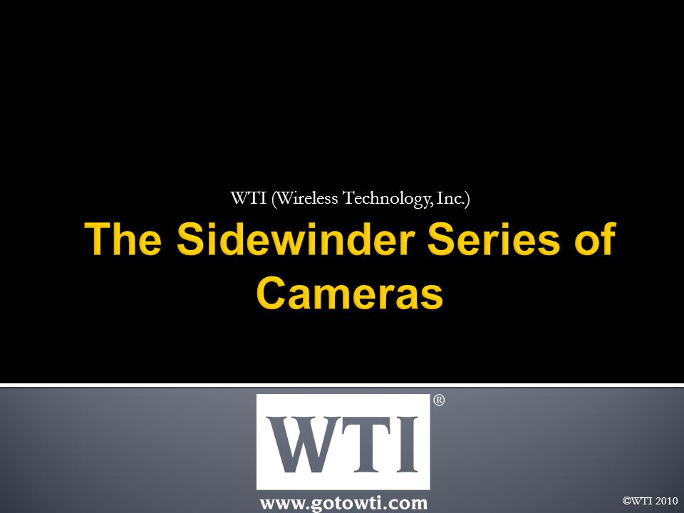 The Revolutionary Sidewinder Pan / Tilt / Zoom Camera features 360° continuous unlimited pan and tilt camera rotation with 0.05° preset repeatability accuracy.
