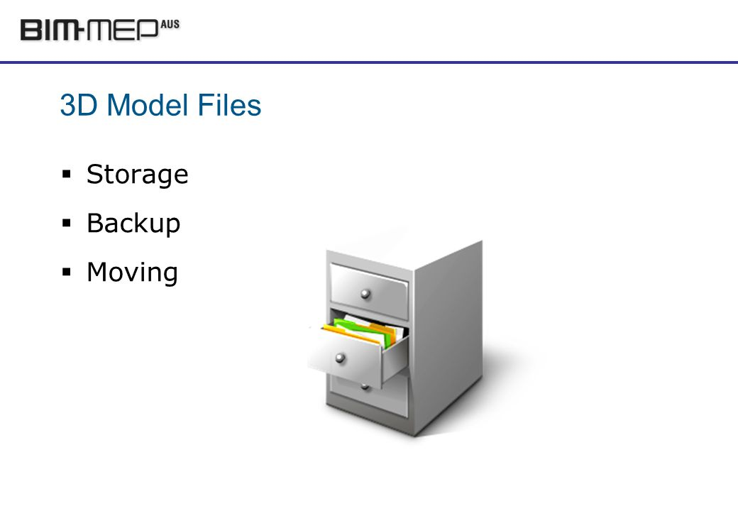 3D Model Files Storage Backup Moving