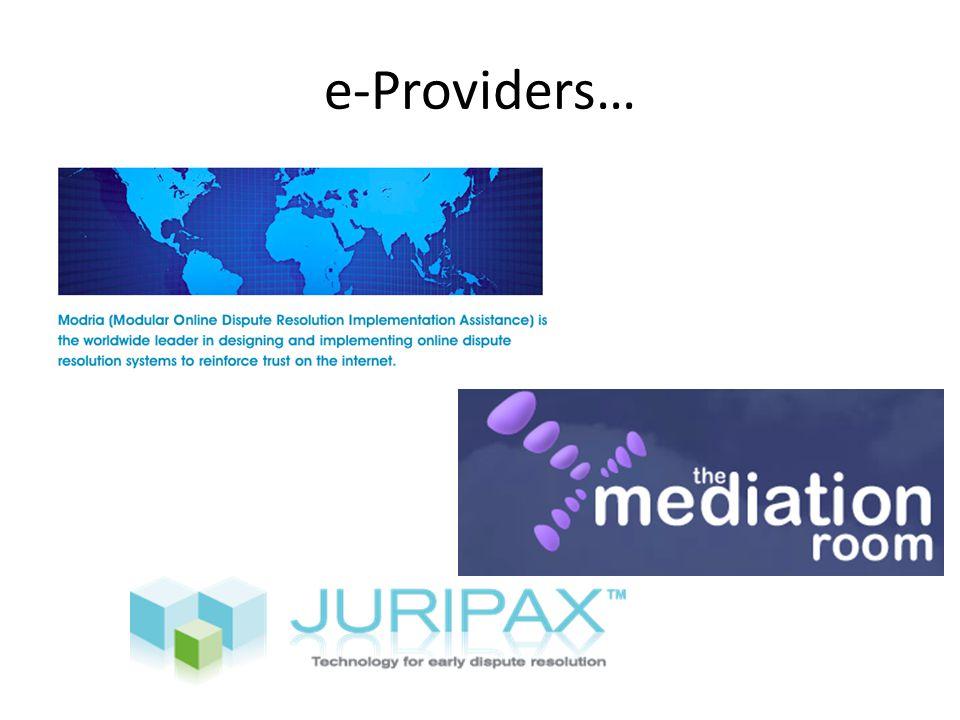 e-Providers…