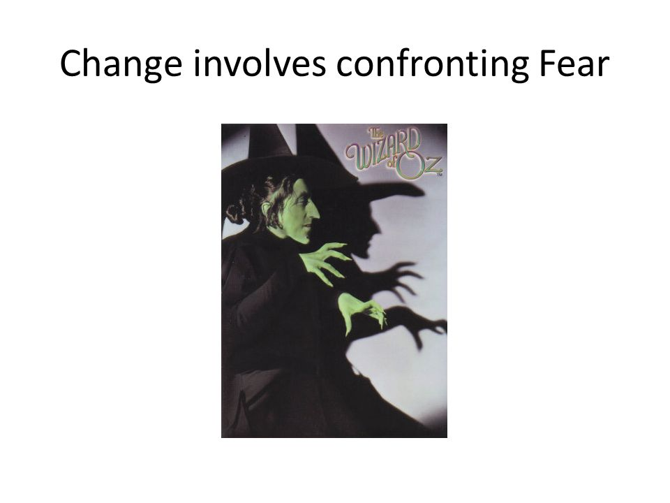Change involves confronting Fear