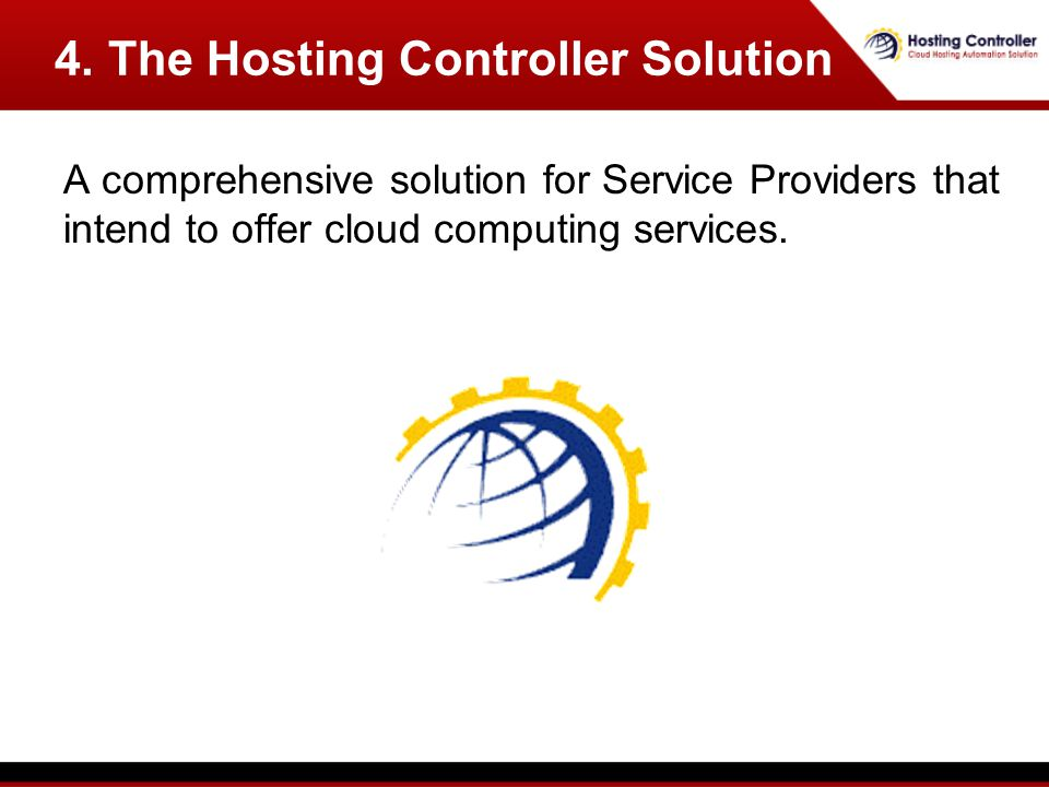 A comprehensive solution for Service Providers that intend to offer cloud computing services.