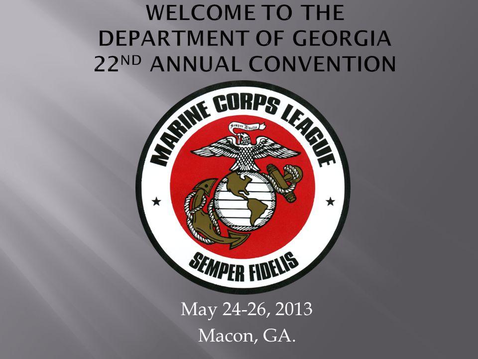 May 24-26, 2013 Macon, GA.