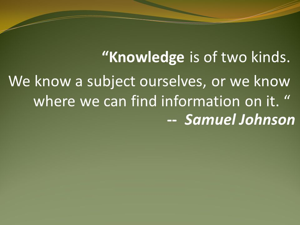 An investment in knowledge pays the best interest. -- Benjamin Franklin