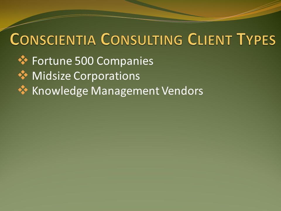 Contact Centers – Software, Wireless, Cable Supporting both Internal & External Customers 1,000 – 15,000 Seats Agent Types Typical Call Center Rep – 6 months - High School Technical Support Engineer – 15 yrs - Masters Follow The Sun Operation Model Cost per incident - $4.25 - $250.00 (Voice Call) Time to resolve issue – 2 minutes – 3 months