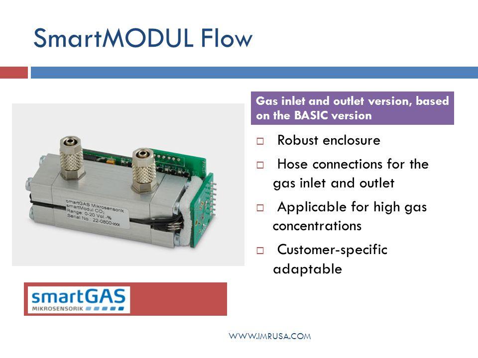 SmartMODULE Flow Acetylene Butane Carbon Dioxide Carbon Monoxide Ethane Methane Propane Detectable Gases WWW.IMRUSA.COM