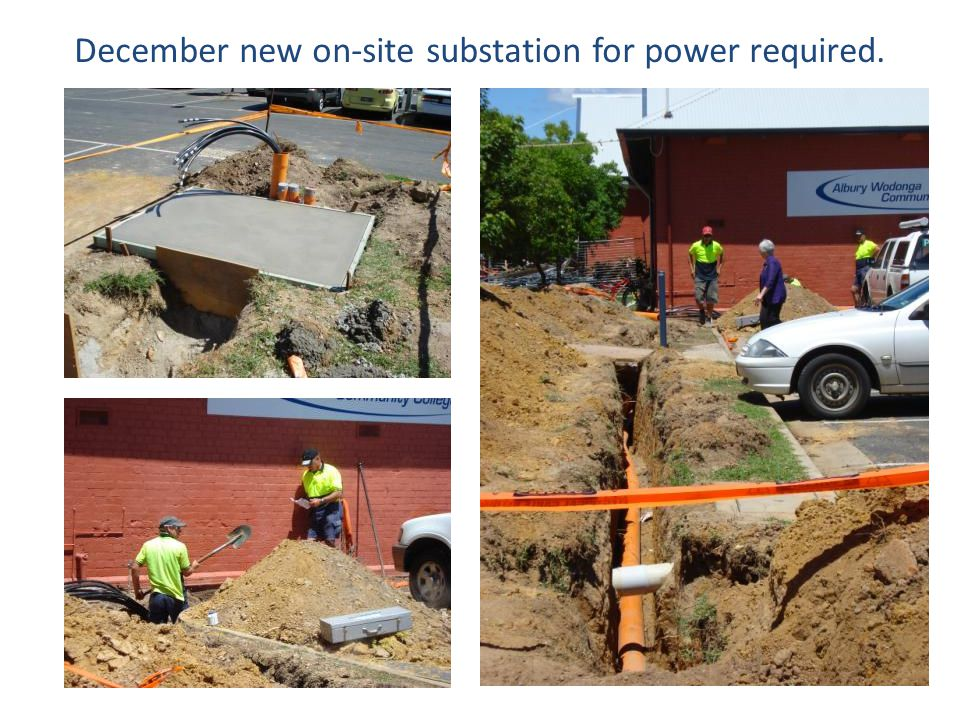 December new on-site substation for power required.