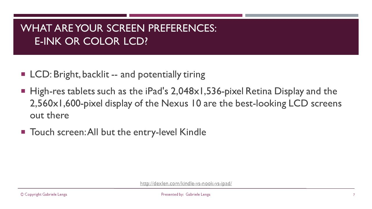 http://dexlen.com/kindle-vs-nook-vs-ipad/ BEST MIDSIZE TABLETS 9-INCH NOOK HD+ The good: sharp screen good performance microSD slot.
