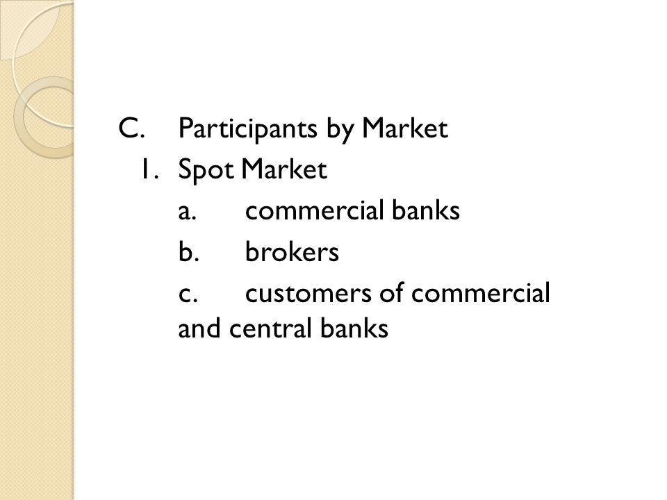 C.Participants by Market 1.